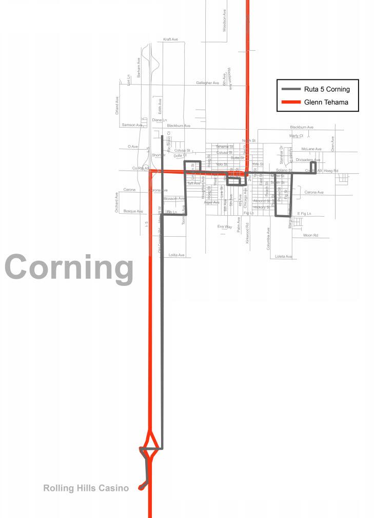 Áreas de servicio Corning