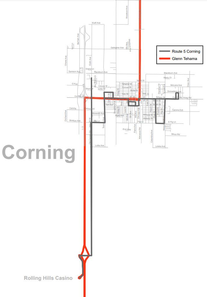 Corning Service Areas