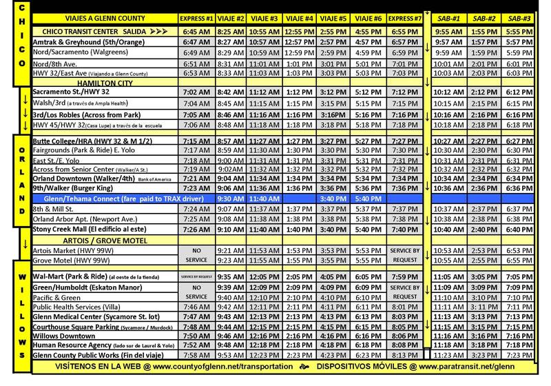 Glenn Ride Bus Calendario