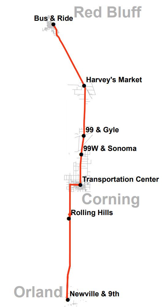 Glenn-Tehama Connection - Map