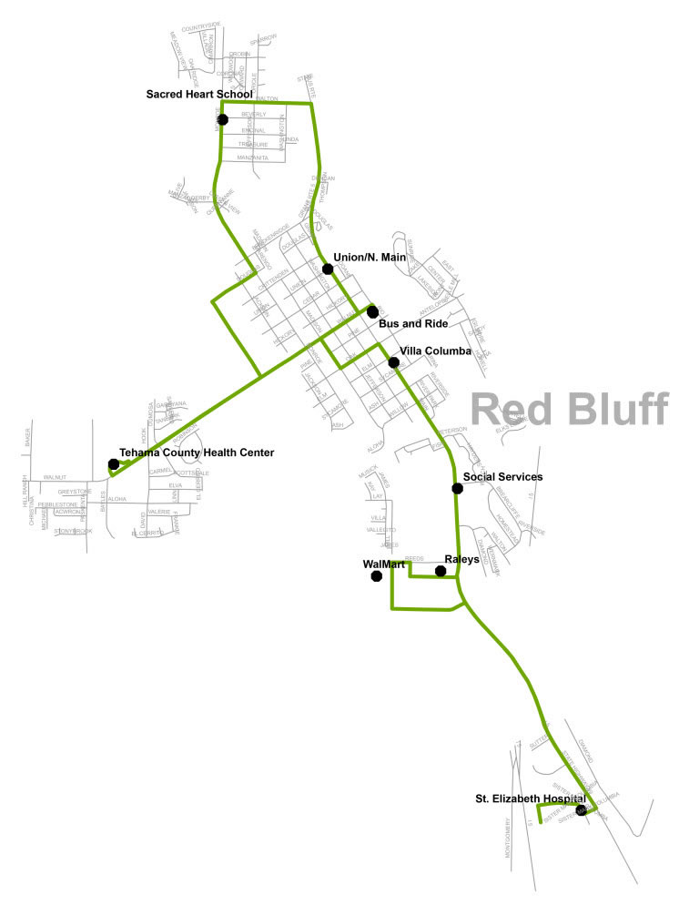 Saturday Route 1 - Map
