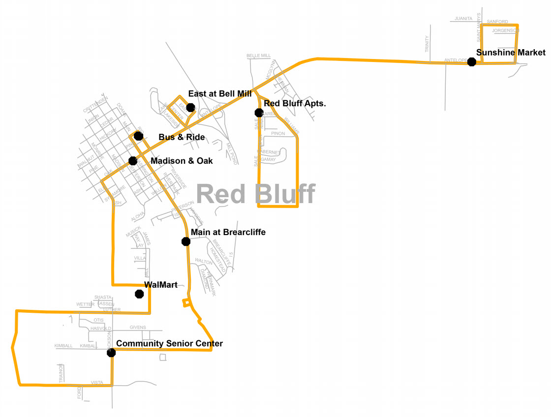 Saturday Route 2 - Map