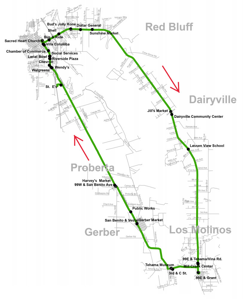 Saturday Route 3A - Map