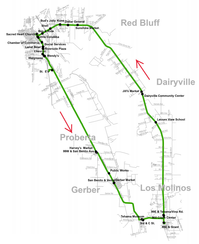 Saturday Route 3B - Map