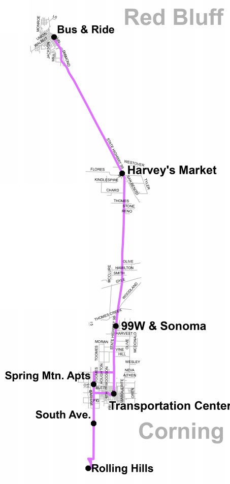 Saturday Route 6 - Map